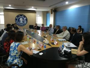 Deans meeting with China educators during FDS