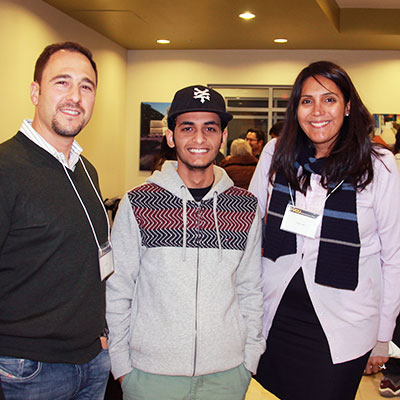 International students meet with community